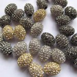 100pcs 8×10-15x20mm Pave Micro Rhinestone Brass Crystal Connector ,Rice Drum Hematite Gunmetal <b>Antique</b> Silver Gold Black Assortm