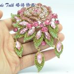 Bayliner Fashion <b>Jewelry</b> <b>Art</b> <b>Deco</b> Pink Rose Flower Brooch Pins For Women Rhinestone Crystals Brooches Bouquet <b>Jewelry</b> 6454