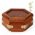 E rose wood mahogany wood <b>antique</b> <b>jewelry</b> box <b>jewelry</b> box box six corner makeup box wedding gifts
