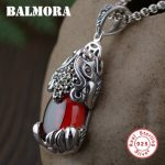 BALMORA 925 Sterling Silver Brave Troops Pendants for Women Men Vintage Animal <b>Jewelry</b> <b>Accessories</b> Without a Chain HSJ10459