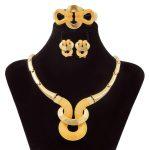 Liffly Sales Fashion New Gold Necklace Pendant Women Africa Dubai Gold <b>Jewelry</b> Set Italian Wedding <b>Accessories</b>