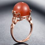 Pandulaso Sterling Silver <b>Jewelry</b> Red Natural Stone Rings for Women Fashion Rose Golden Rings Silver 925 <b>Jewelry</b> <b>Accessories</b>