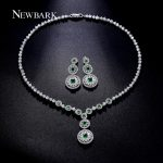 NEWBARK Brand Gorgeous Classic Cubic Zirconia <b>Jewelry</b> Sets Silver Color Green Crystal Stone American European Sets <b>Accessories</b>