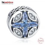LZESHINE Blue CZ Bead Patterns of Frost Openwork Charm Beads Fit Original Bracelet <b>Antique</b> 925 Sterling Silver <b>Jewelry</b> PSMB0818