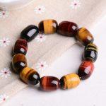 JoursNeige Natural Tiger Eye Bracelet Barrel Beads 18*13mm Multi Color Tiger Eye Stone Bracelets <b>Jewelry</b> <b>Accessories</b>