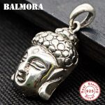 BALMORA 925 Sterling Silver Buddhistic Pendants for Women Men <b>Accessories</b> Vintage Thai Silver <b>Jewelry</b> Without a Chain SY10622