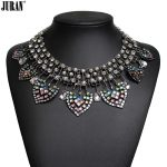 Hot sale Z fashion crystal <b>Antique</b> Silver color ethnic metal choker necklace & pendant statement <b>jewelry</b> 2017