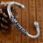 BALMORA 100% real 990 pure silver <b>jewelry</b> exquisite retro flower bracelets bangles for women <b>accessories</b> best gift SY50123-Y