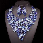 Fashion Jewellery Sets Dubai Necklace Earrings Bridal <b>Jewelry</b> Sets For Brides Party Prom Wedding <b>Accessories</b> Decoration LF00159