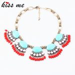 Fashion <b>Accessories</b> Fan-shaped Design Bohemia <b>Jewelry</b> Vintage Short Necklace Factory Wholesale Fashion Bijoux for Women