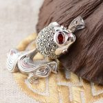 Deer King silver <b>jewelry</b> wholesale 925 Sterling Silver <b>Antique</b> Style Pendant pendant simple female goldfish