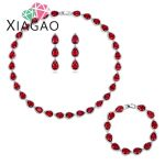 XIAGAO Luxury Bride Classic Rhinestone Crystal Choker Necklace Earrings and Bracelet Wedding <b>Jewelry</b> Sets Wedding <b>Accessories</b>