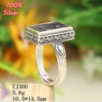 100% Sterling Silver 925 <b>Jewelry</b> 10.5*14.5mm Adjustable Ring Blank For Man Tray Setting Square Stone <b>Antique</b> Silver Classical