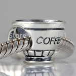 <b>Antique</b> 925 Sterling silver Coffee cup Beads fit European Style DIY Charms Bracelet <b>Jewelry</b>