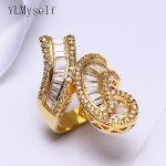 Big party luxury finger ring for women Hyperbole design Jewellery crystal Large rings fashion <b>jewelry</b> female <b>accessories</b> rings