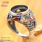 Royal 100% sterling silver <b>jewelry</b> Ring Base Fit Round 10mm Cloisonne Classic <b>Antique</b> Bronze Blank Tray for diy Handmade Rings