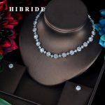 HIBRIDE Luxury CZ Bridesmaid <b>Accessories</b> <b>Jewelry</b> Sets For Women Necklace Earrings Bijoux Set Pendientes Mujer Moda 2018 N-598