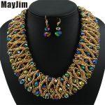 Statement necklace 2018 fashion <b>jewelry</b> sets Handmade bead chain big Crystal dubai <b>jewelry</b> sets Vintage beads Bijoux <b>Accessories</b>