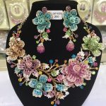 2017 Bridal <b>Jewelry</b> Sets Wedding Necklace Earring For Brides Party <b>Accessories</b> Big Flowers Rhinestone African <b>Jewelry</b> Sets WC037
