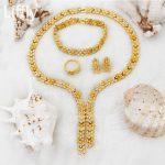 2018 New Fashion 24 Gold <b>Jewelry</b> Sets Necklace Ring Bracelet Charm Women Bridal Wedding Earrings <b>Accessories</b> <b>Jewelry</b>