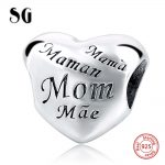 Latest Fit Authentic Pandora Charms silver 925 Original <b>Antique</b> Love Hearts Zircon Shape Bracelet Beads <b>Jewelry</b> For Mother gifts
