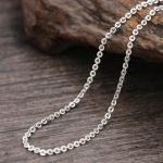 2.5mm thick cross link chain necklace sterling 925 silver <b>jewelry</b> <b>accessory</b>