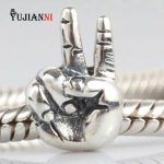 <b>Antique</b> 925 Sterling Silver Finger Beads Olympic Victory Charms Fit European Original Bracelet & Necklace DIY <b>Jewelry</b> Making