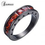 Love <b>Jewelry</b> Red Zircon Stone Ring <b>Antique</b> Black Gold Filled CZ Ring For Women Men Wedding Engagement Party <b>Jewelry</b> Anel RB0366