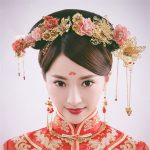 Chinese Traditional Classical Bridal <b>Jewelry</b> Sets Headdress Handmade Hair <b>Accessories</b> Resin Flowers Golden Wedding Earring