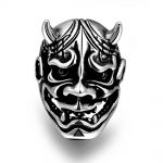 HERMOSA <b>Jewelry</b> exquisite Japanese style ghost mask <b>accessories</b> stainless steel New Men's Ring Size 8,9,10,11 GMYR168