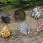 100pc 13*18mm,18*25mm Pad ring blank Cameo Tray,<b>Antique</b> Bronze/Gold/Silver Ring setting,Handmade DIY Zakka <b>jewelry</b> Finding