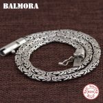 BALMORA 100% Real 925 Sterling Silver <b>Jewelry</b> Chains Necklaces for Men Thai Silver Necklace 18-22 inch <b>Accessories</b> Gifts XL0013