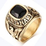 Vintage <b>Antique</b> Gold/Silver Plated Crystal Ring For Men Stainless Steel Big Square Stone Finger Ring Male Men <b>Jewelry</b>