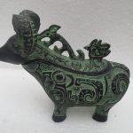 Copper Brass craft Old Bronze sheep <b>Jewelry</b> Box Metal Crafts, <b>Antique</b> home Decorative Arts Animal statue