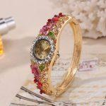 Sloggi women Mediterranean Quartz Watch Medieval Palace style 3D flower Wristwatch ladies <b>Jewelry</b> Casual Watch relogio feminino