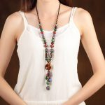 Fashion Choker Chain Natural <b>Jewelry</b> Necklace Stone Party <b>Accessories</b> Handmade Jewelery Gift Necklaces & Pendants