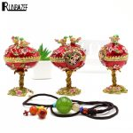 RUNBAZEF Roses Gift <b>Antique</b> Metal Crafts Bonsai Rich and Colorful and TORIYA Creative <b>Jewelry</b> Box Home Decoration Accessories
