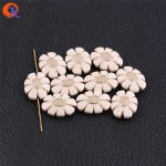Cordial Design 24x19mm 260pcs/lot (Design As Shown) White With <b>Antique</b> Acrylic Oval Flower Shape Beads For <b>Jewelry</b> Making