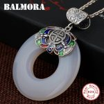BALMORA 925 Sterling Silver Peace Buckle Pendants for Women Lover Vintage <b>Jewelry</b> <b>Accessories</b> Gift Without a Chain MN12094