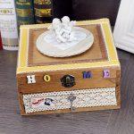 <b>Antique</b> Wooden Music Box Clockwork DIY Double -Layer <b>Jewelry</b> Box Musical Box Women Girl Cosmetic Case Gift lover Musical Box
