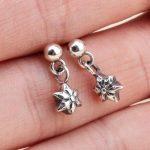 100% Solid Sterling Silver 925 Star David Charm Drop Earring Men Women Retro <b>Antique</b> Silver 925 Cool Personality <b>Jewelry</b>