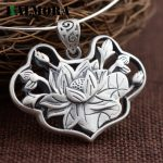 BALMORA 990 Pure Silver Vintage Lotus Flower Pendants Women Lover <b>Accessories</b> Without a Chain Retro <b>Jewelry</b> Best Gift SY13601