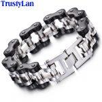 TrustyLan 22MM Wide Punk Motorcycle Thick Chain Bracelet Men 316L Stainless Steel <b>Jewelry</b> <b>Accessory</b> Mens Bracelets Man Wristband