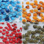 1000pcs mix color Matte <b>art</b> <b>deco</b> Hearts gem resin Cabochons DIY Flatback Appliques Buttons Supply stash Cabochon Cabs 10mm