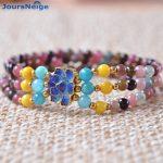 Tourmaline Natural Stone Bracelets With Roasted Blue Lucky for Women Fashion Three laps Bracelet <b>Jewelry</b> <b>Accessories</b> JoursNeige
