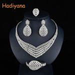 Hadiyana Fashion Floral Bridal Wedding <b>Jewelry</b> Sets With Clear Zincons New Flower Women Engagement <b>Jewelry</b> <b>Accessories</b> Set CN754