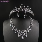 Jonnafe Luxury AAA Zirconia Wedding Necklace Earrings Set Bridal <b>Accessories</b> Women Prom <b>Jewelry</b> Sets With Tiara