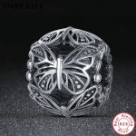 INBEAUT Vintage DIY Beads 925 Sterling Silver <b>Antique</b> Hollow Butterflies Pendant Charms fit Pandora Bracelet Women DIY <b>Jewelry</b>