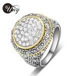 UNY Ring Pave CZ Stone Party Rings Christmas Valentine Gift Vintage Wedding Ring Fashion Brand Hardy <b>Jewelry</b> Women <b>Antique</b> Rings