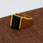 JHNBY High quality vintage Gold-color rings hiphop black zirco stone rings for men bague bijouterie <b>accessories</b> <b>jewelry</b> new 2017